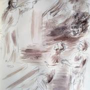 6 mars 2018 evangile du jour illustre par un dessin au lavis de jean joseph chevalier 1