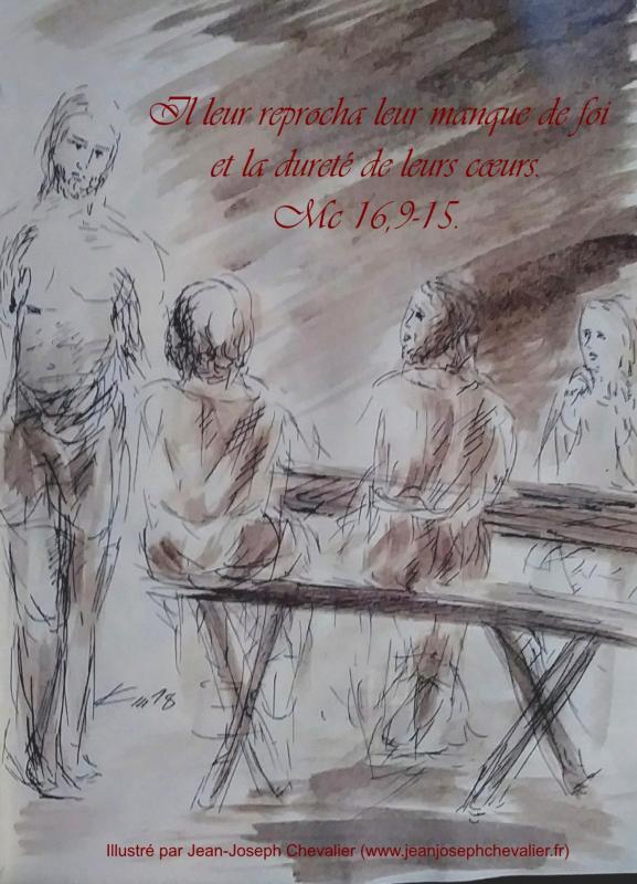 7 avril 2018 evangile du jour illustre par un dessin au lavis de jean joseph chevalier image