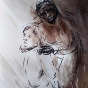 7 mai 2018 evangile du jour illustre par un dessin au lavis de jean joseph chevalier