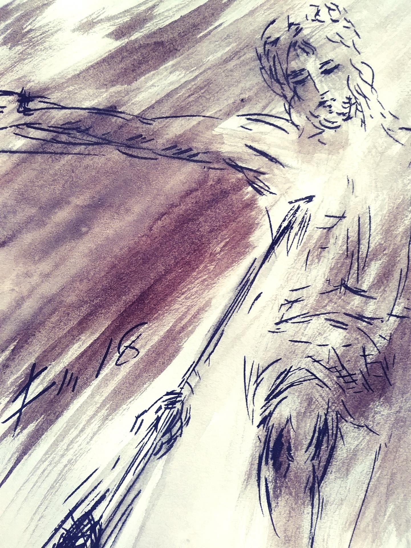 8 juin 2018 evangile du jour illustre par un dessin au lavis de jean joseph chevalier