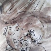 8 mai 2018 evangile du jour illustre par un dessin au lavis de jean joseph chevalier