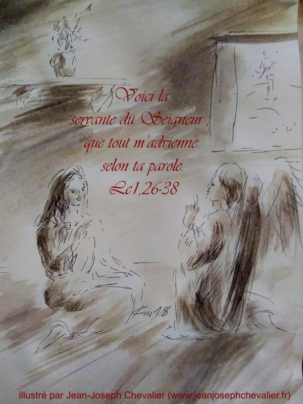 9 avril 2018 evangile du jour illustre par un dessin au lavis de jean joseph chevalier image