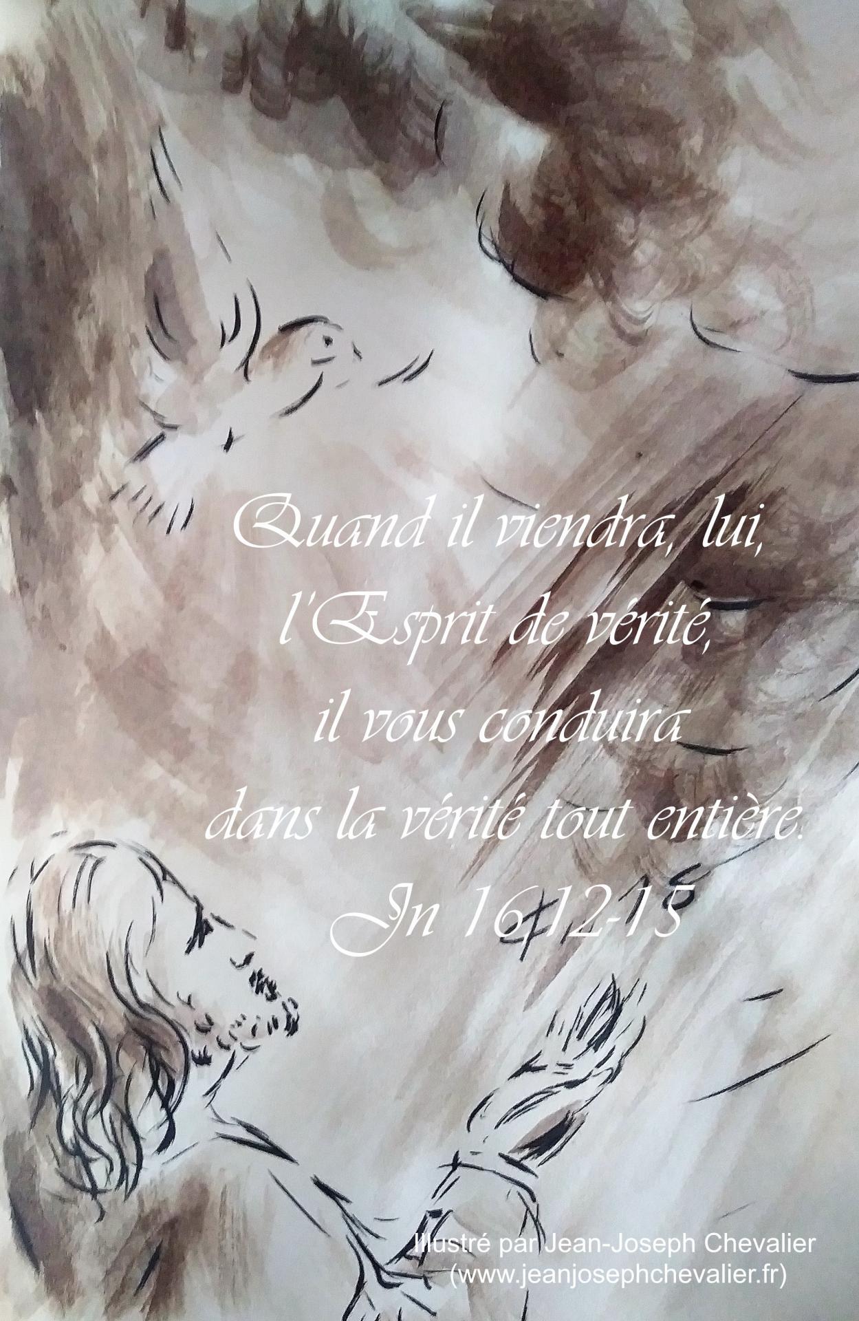 9 mai 2018 evangile du jour illustre par un dessin au lavis de jean joseph chevalier image