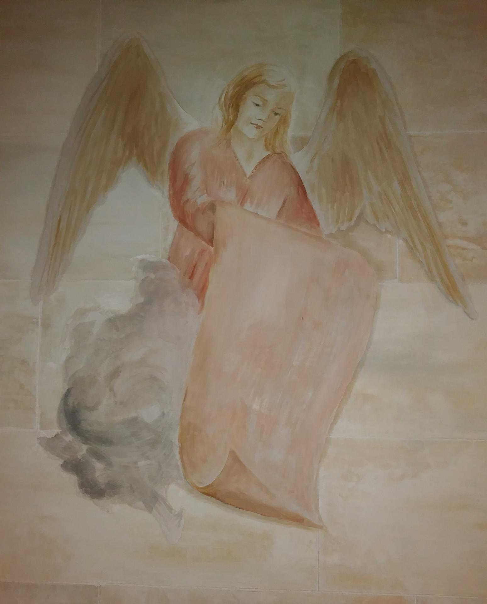 Ange basilique du sacre coeur de marseille fresque