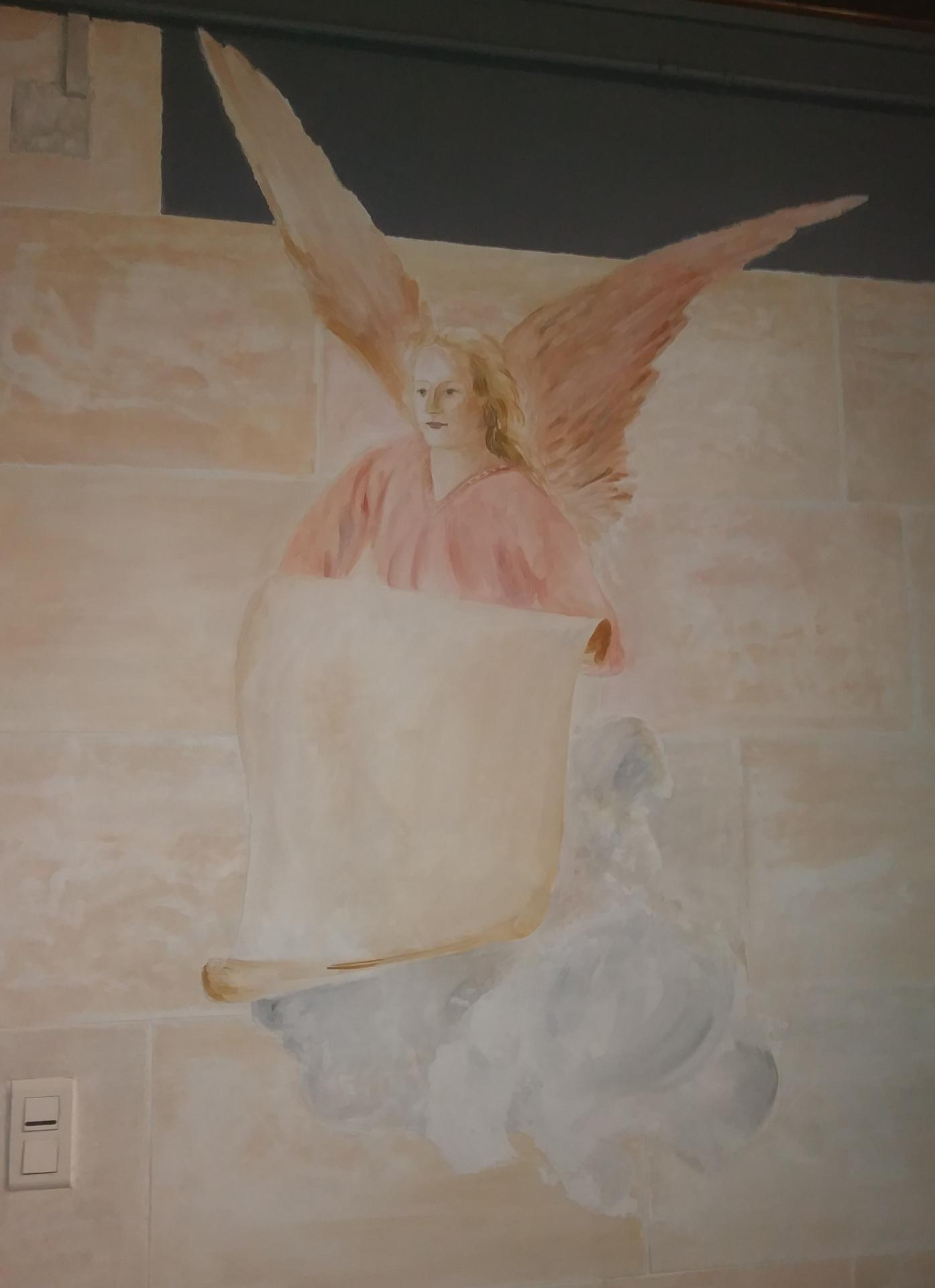 Ange fresque basilique du sacre coeur