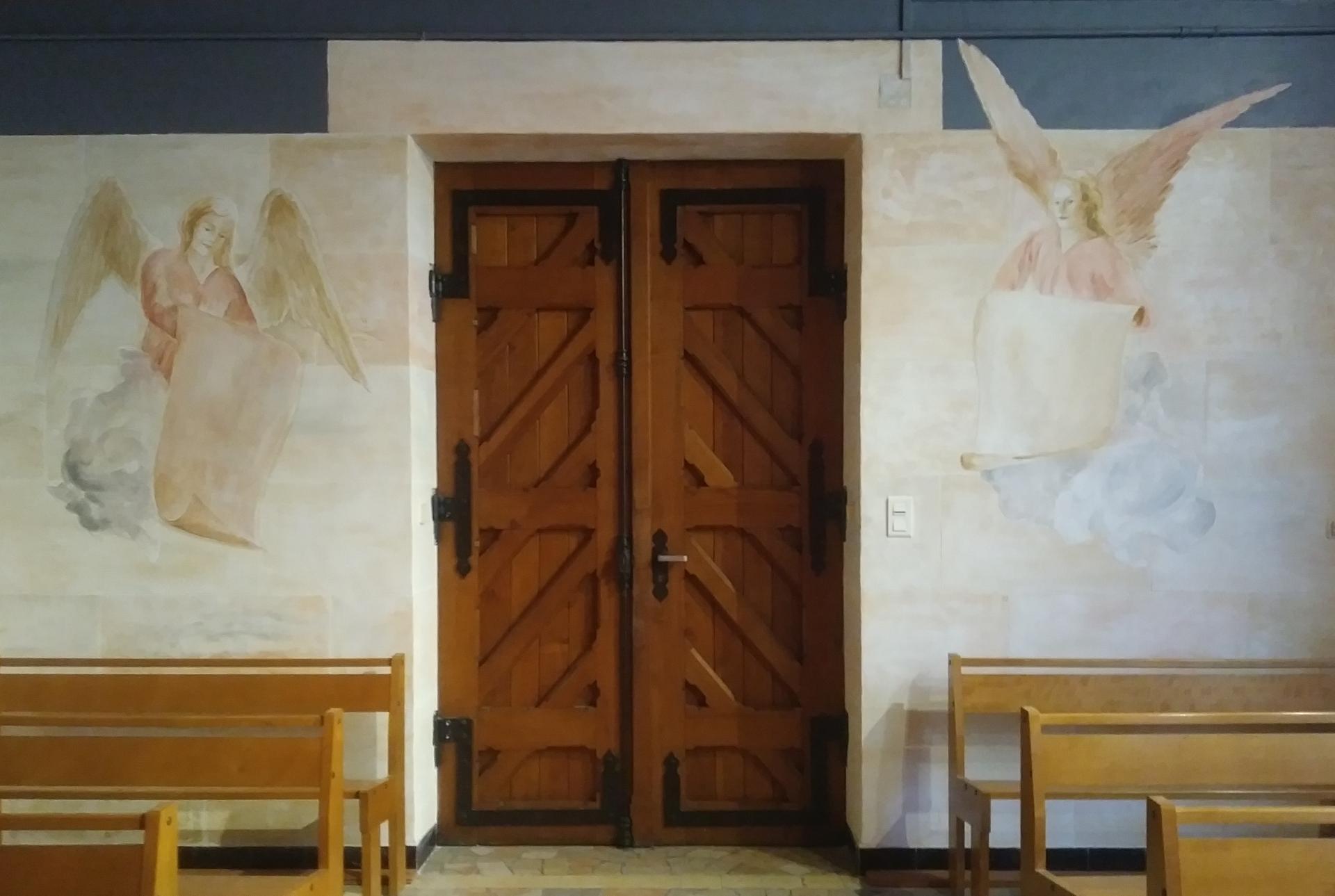 Anges fresque basilique du sacre coeur