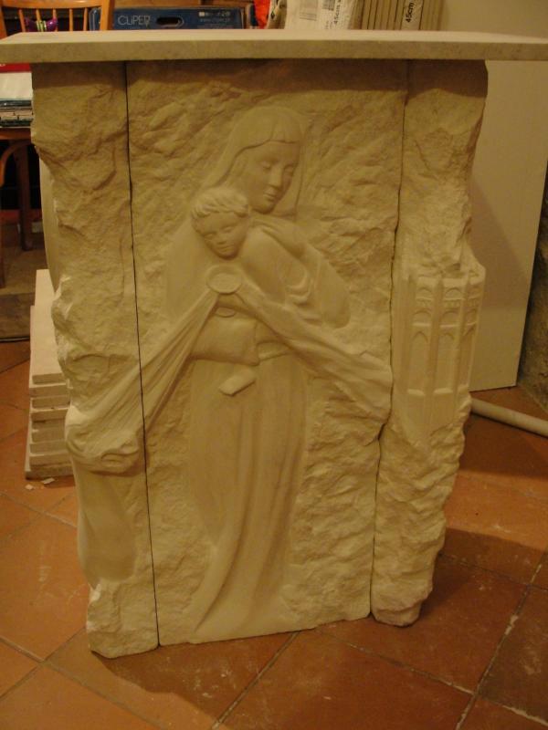 Vierge à la coupe, Autel du precieux sang par jean joseph chevalier 104