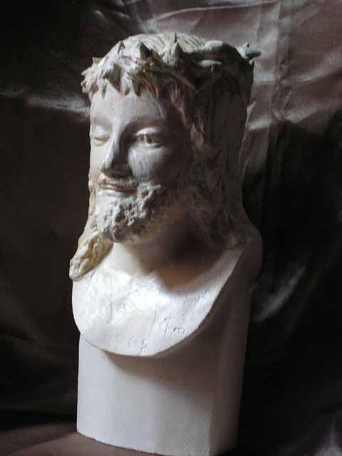 Buste d un christ couronne d epine 30cm 6