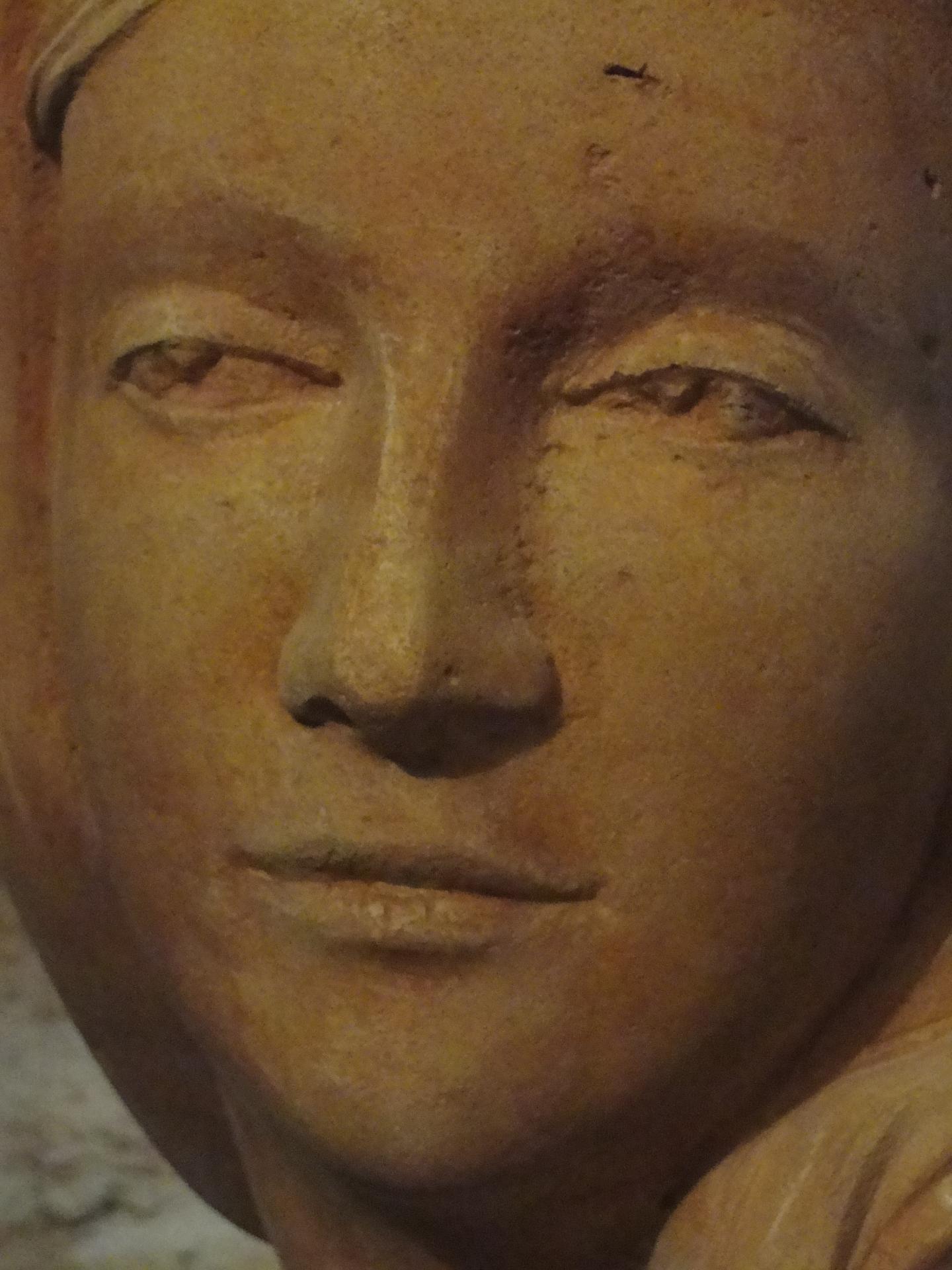 Buste d une vierge en pierre 30cm 18 1