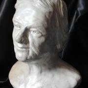 Buste de vieille femme portrait modelage en terre 15cm 7