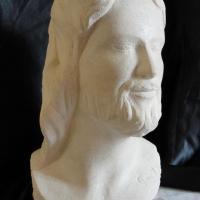 Buste en pierre d un christ 5