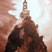 Chapelle st michel le puy dessin au lavis de jean joseph chevalier 7