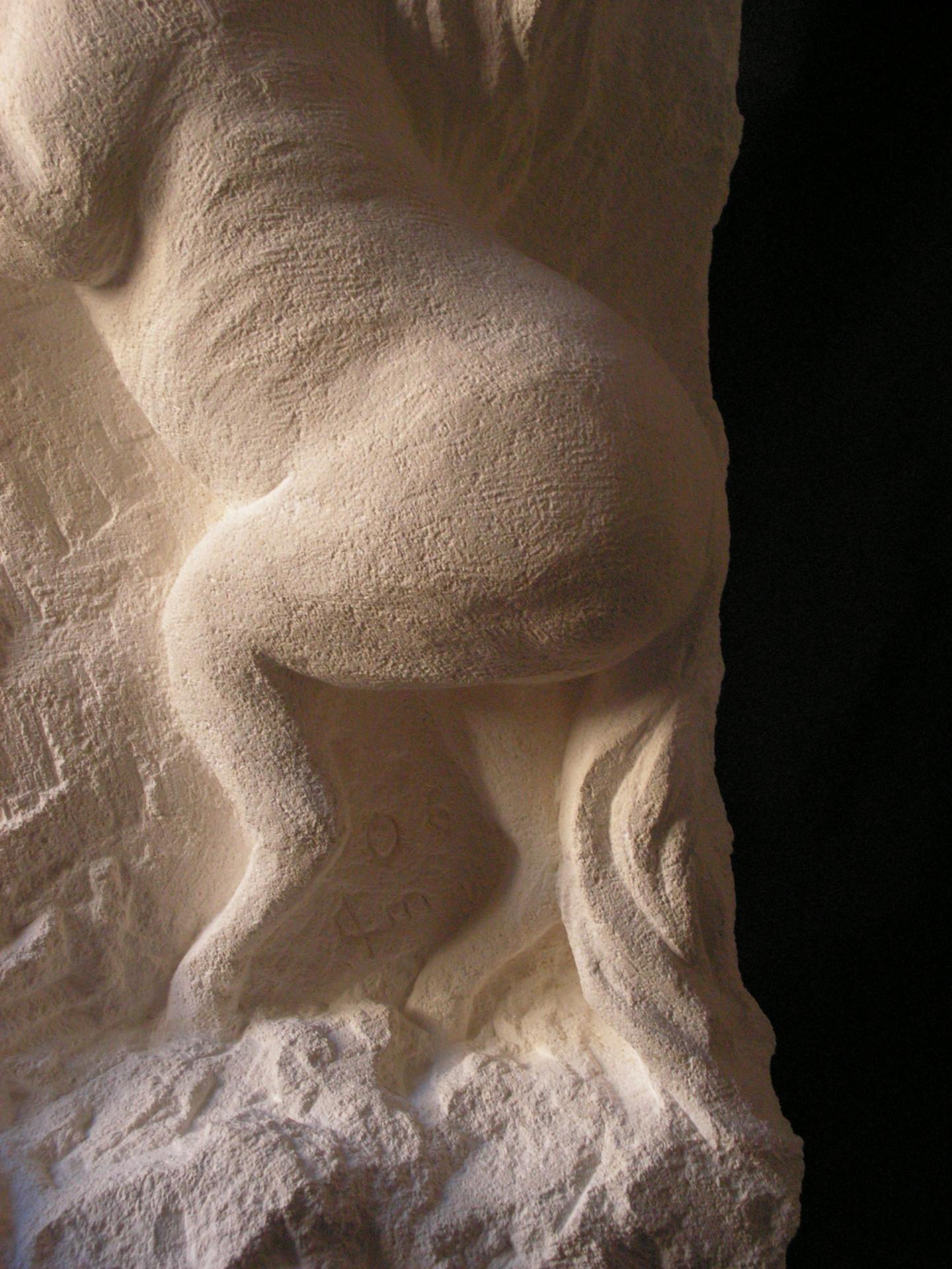 Cheval relief en pierre 60cm 4
