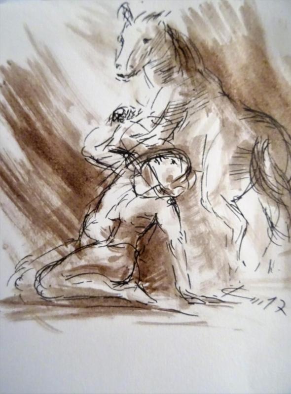 Conversion de st paul dessin au lavis de jean joseph chevalier 113