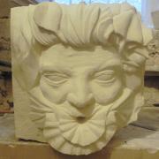 Cracheur en pierre homme coquillage par jean joseph chevalier 8