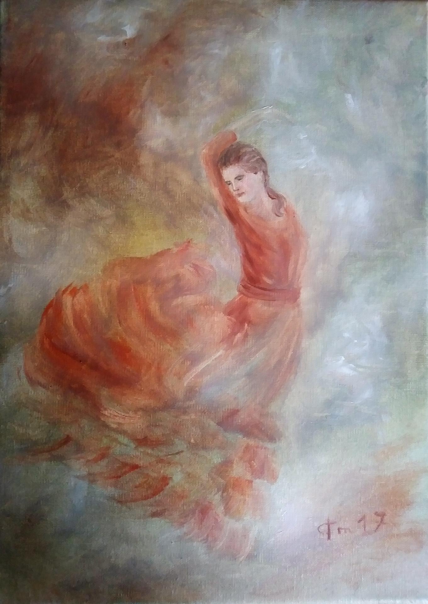 Danseuse flamenco peinture de jean joseph chevalier