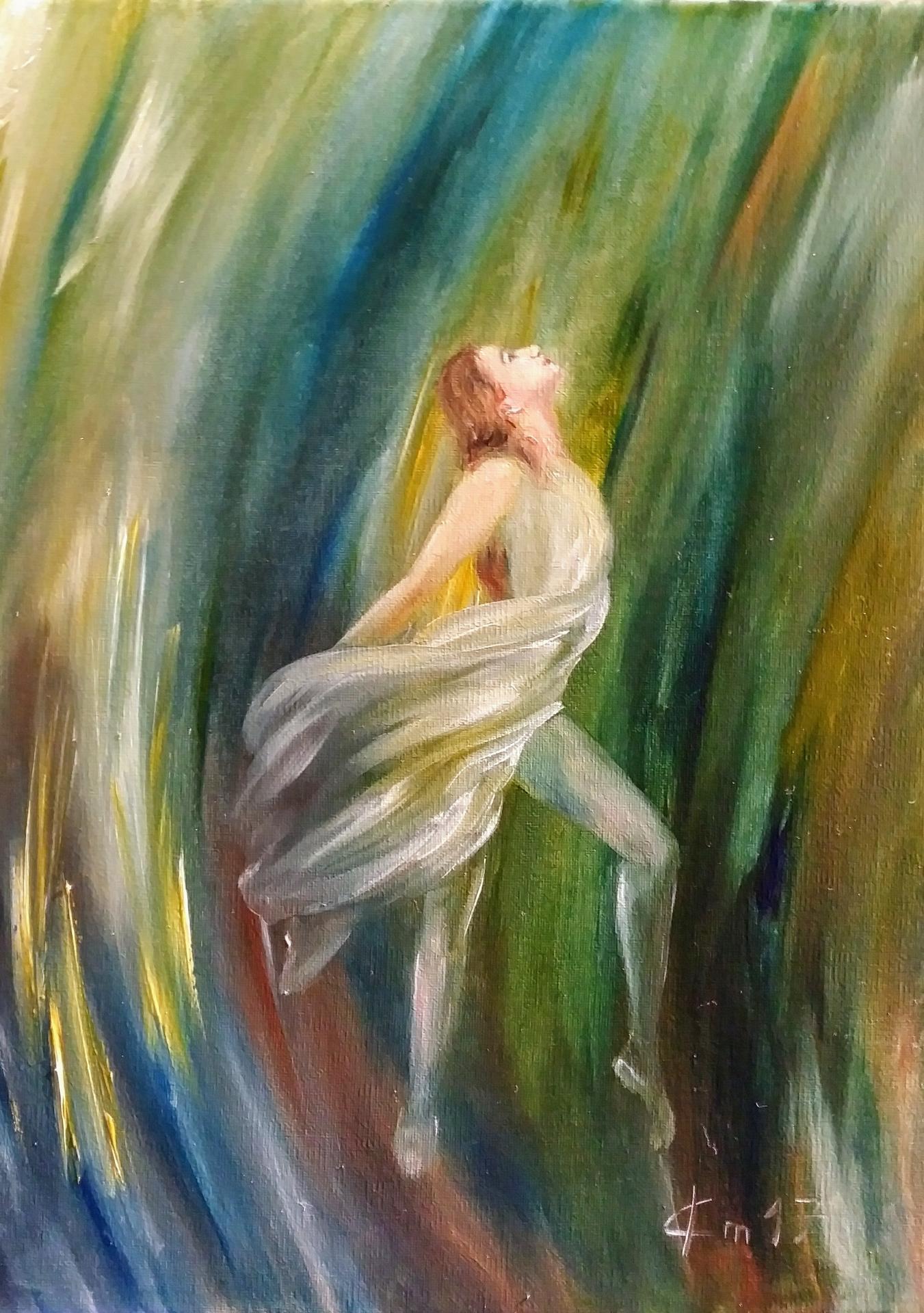 Danseuse peinture de jean joseph chevalier