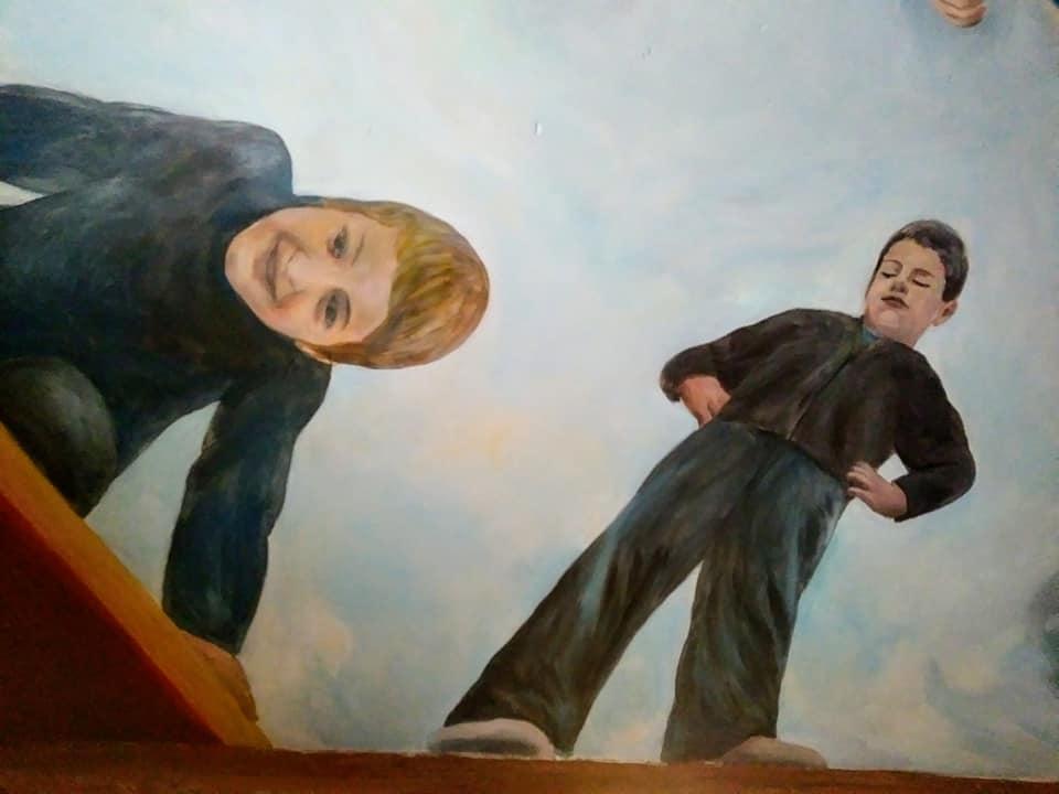 Decor de plafond avec enfants par jean joseph chevalier 1