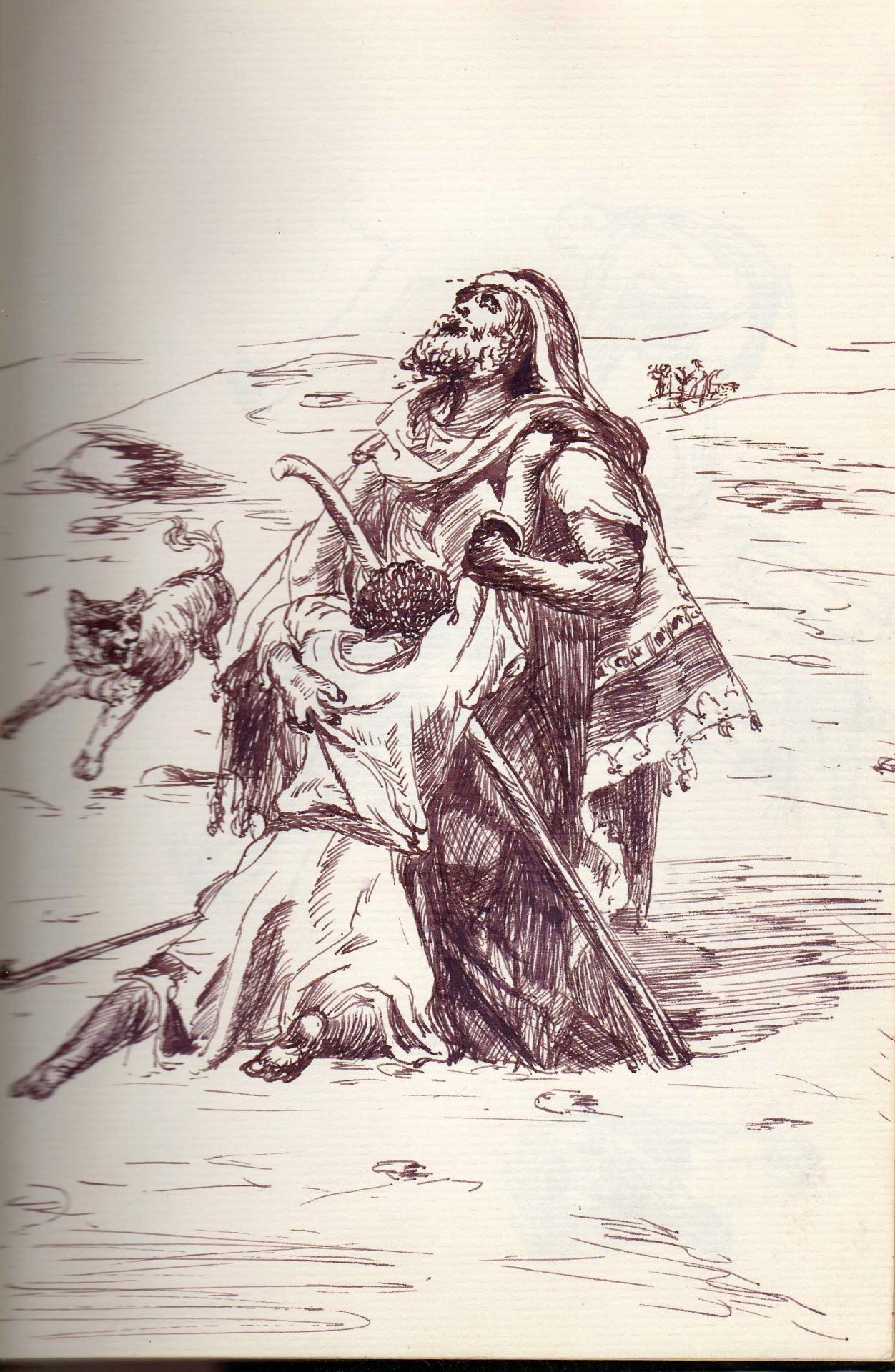 Dessin a la plume de jean joseph chevalier 49