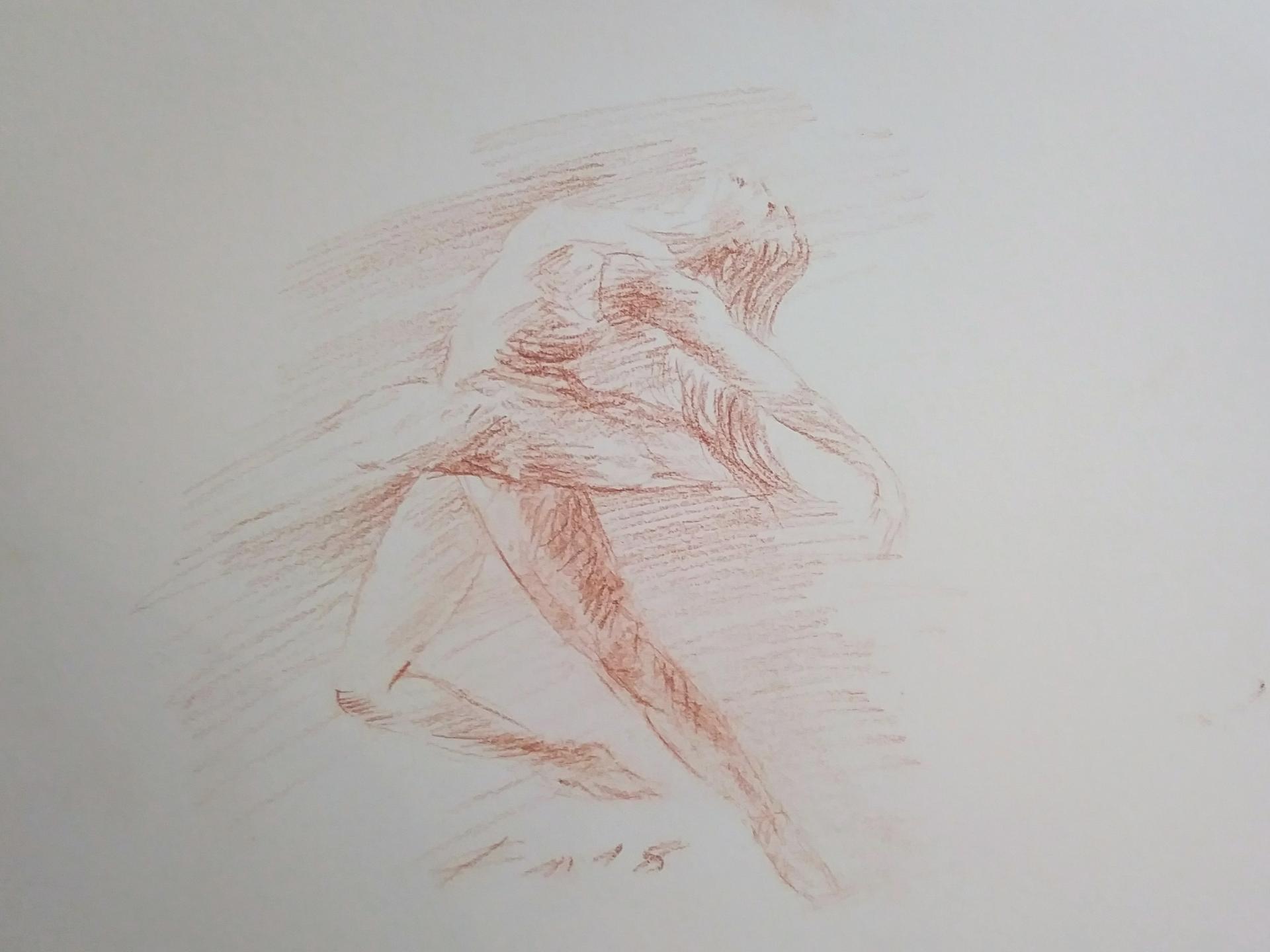 Danseuse 4, dessin à la sanguine