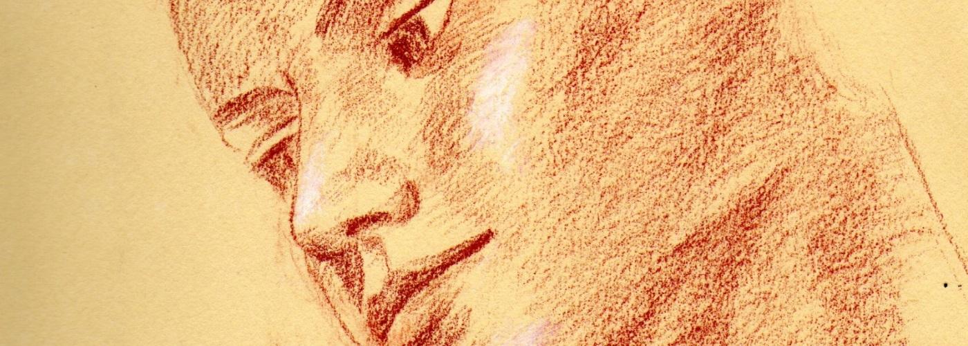 Dessin à la sanguine et aux trois crayons