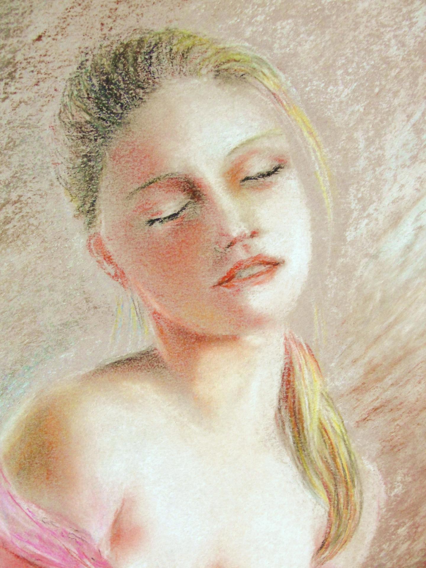 Portrait 2, dessin au pastel sec