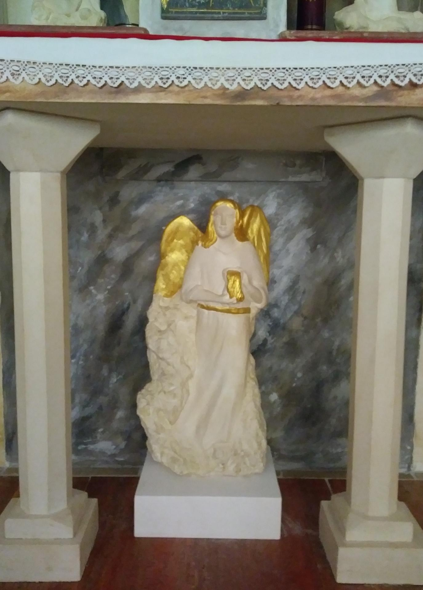 Ensemble fresque sculpture et mobilier liturgique de jean joseph chevalier 7