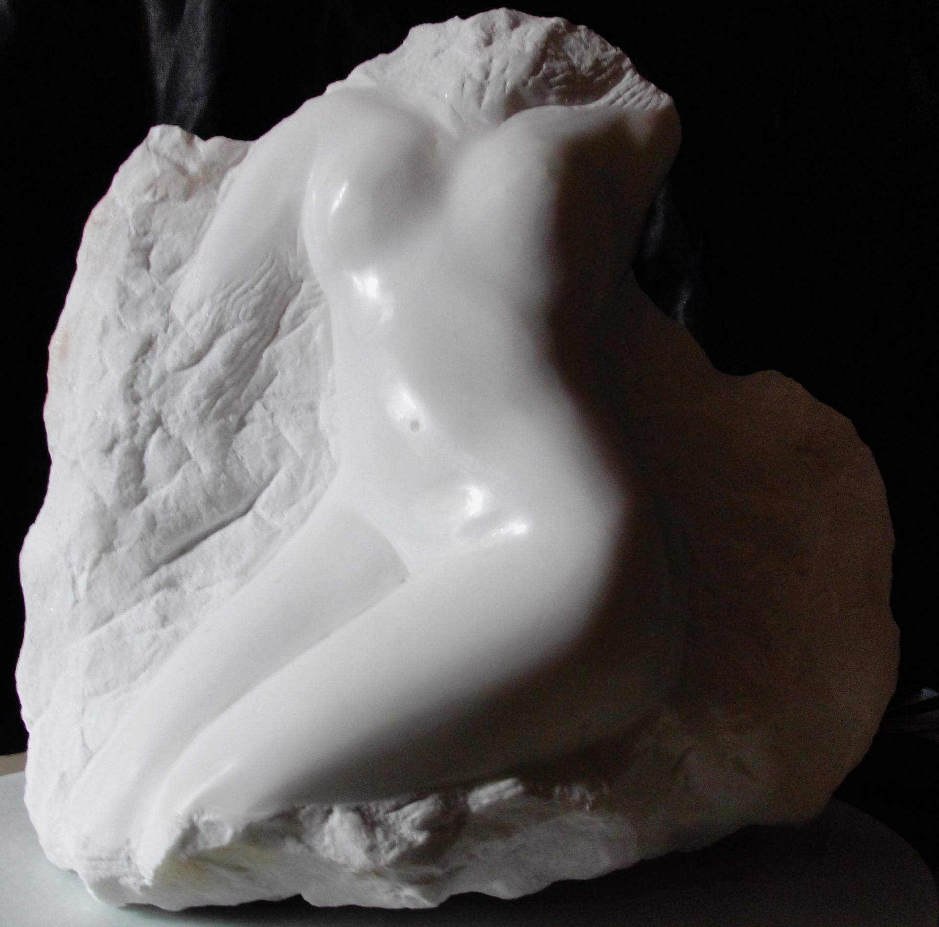 Eveil sculpture d un nu feminin en marbre 40cm relief de jean joseph chevalier 4