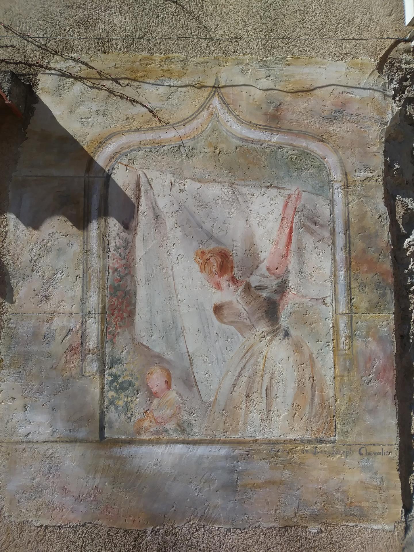 Fresque a fresco de la lavandiere