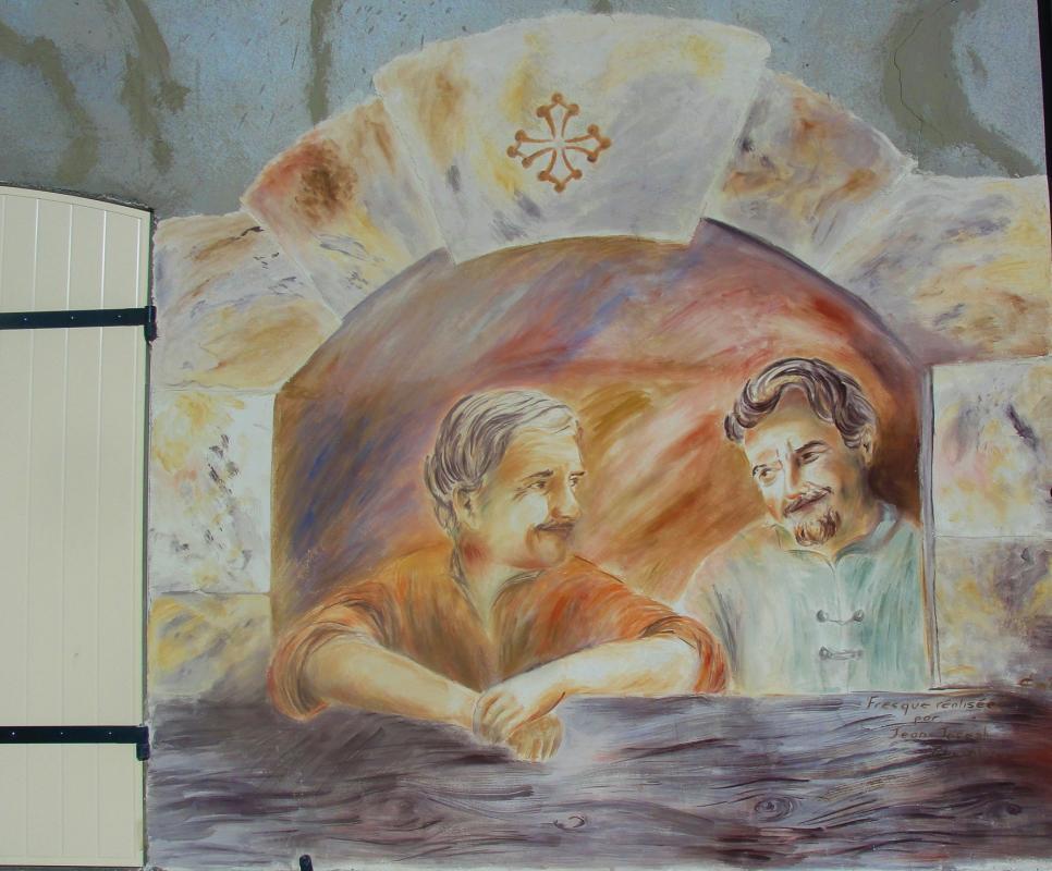 Fresque de l amitie a brignoles dans le var par jean joseph chevalier 15