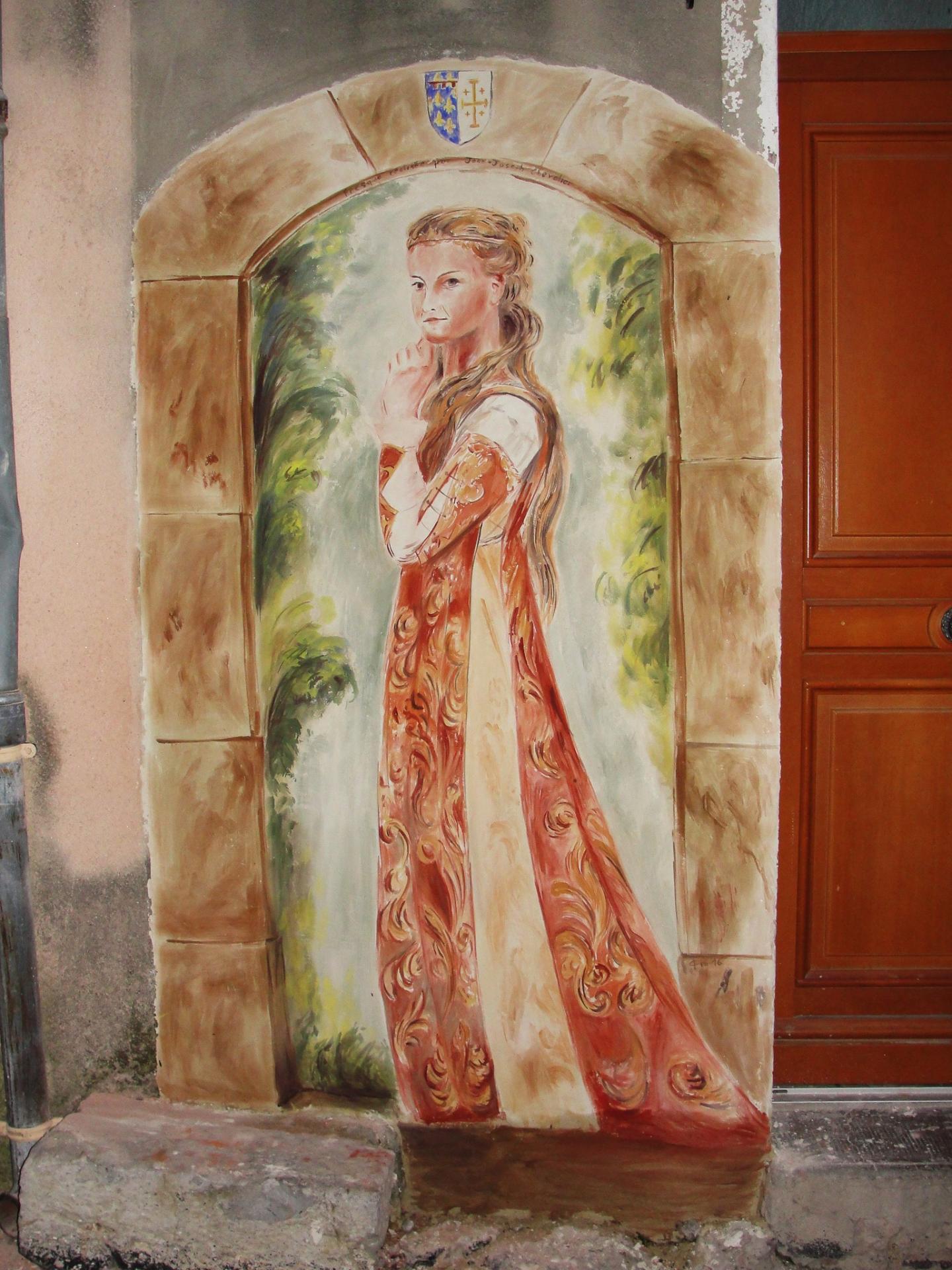 Fresque de la belle dame par jean joseph chevalier a brignoles 11