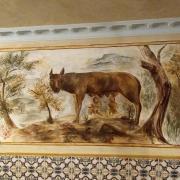 Fresque de la louve romulus et remus fresque de jean joseph chevalier