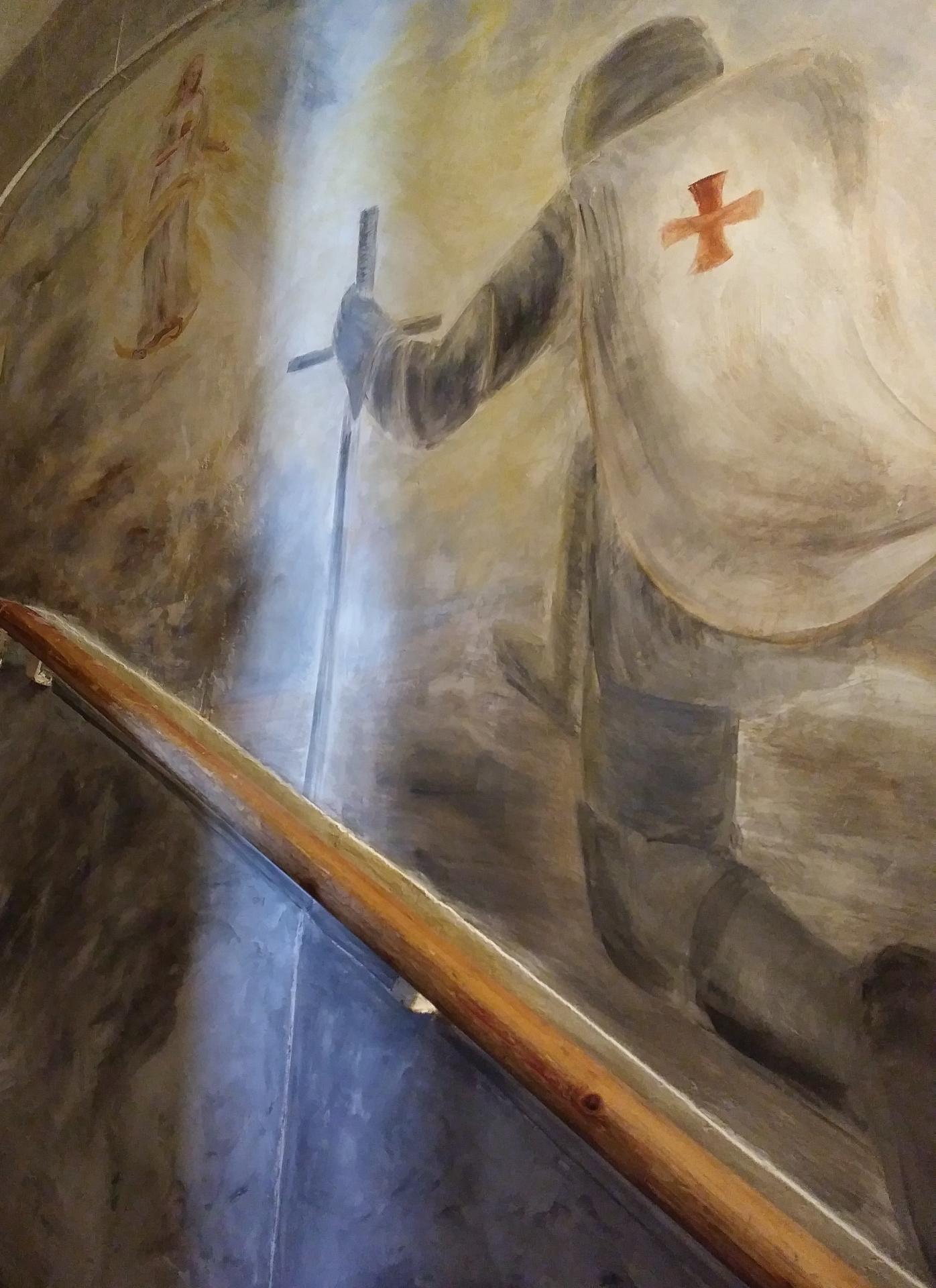 Fresque decoration d une cage d escalier par jean joseph chevalier 1