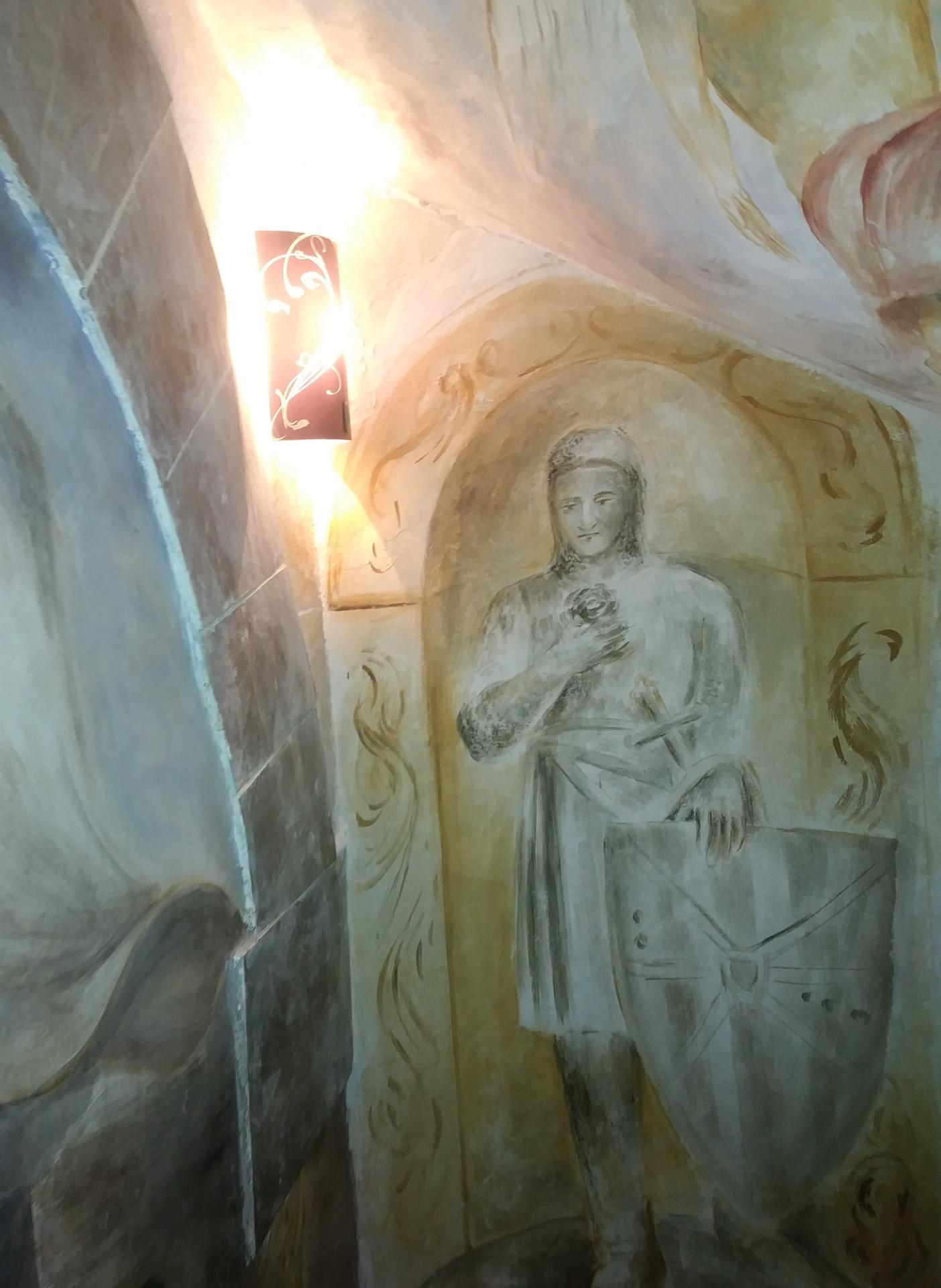 Fresque decoration d une cage d escalier par jean joseph chevalier 4