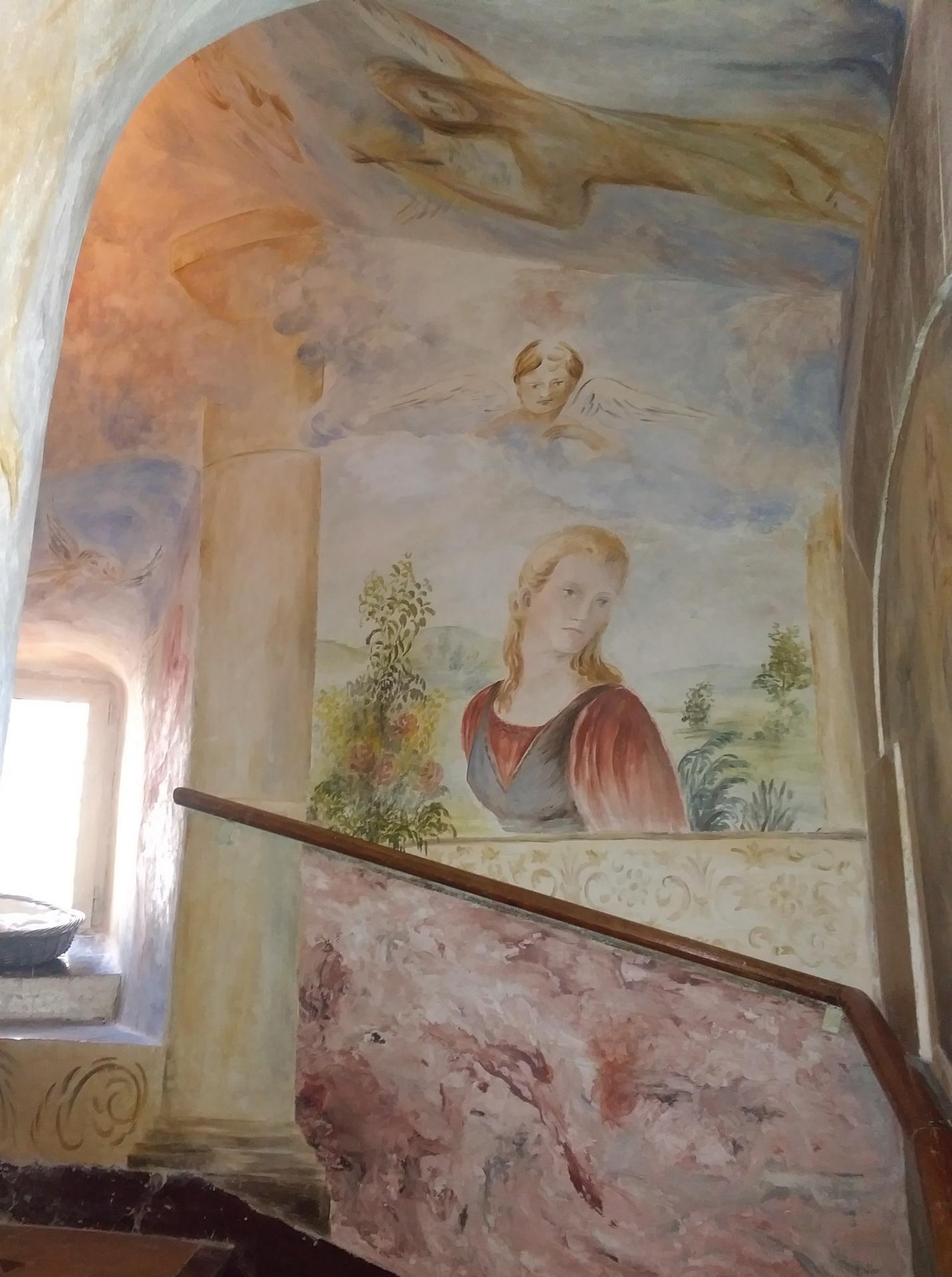 Fresque decoration d une cage d escalier par jean joseph chevalier 5