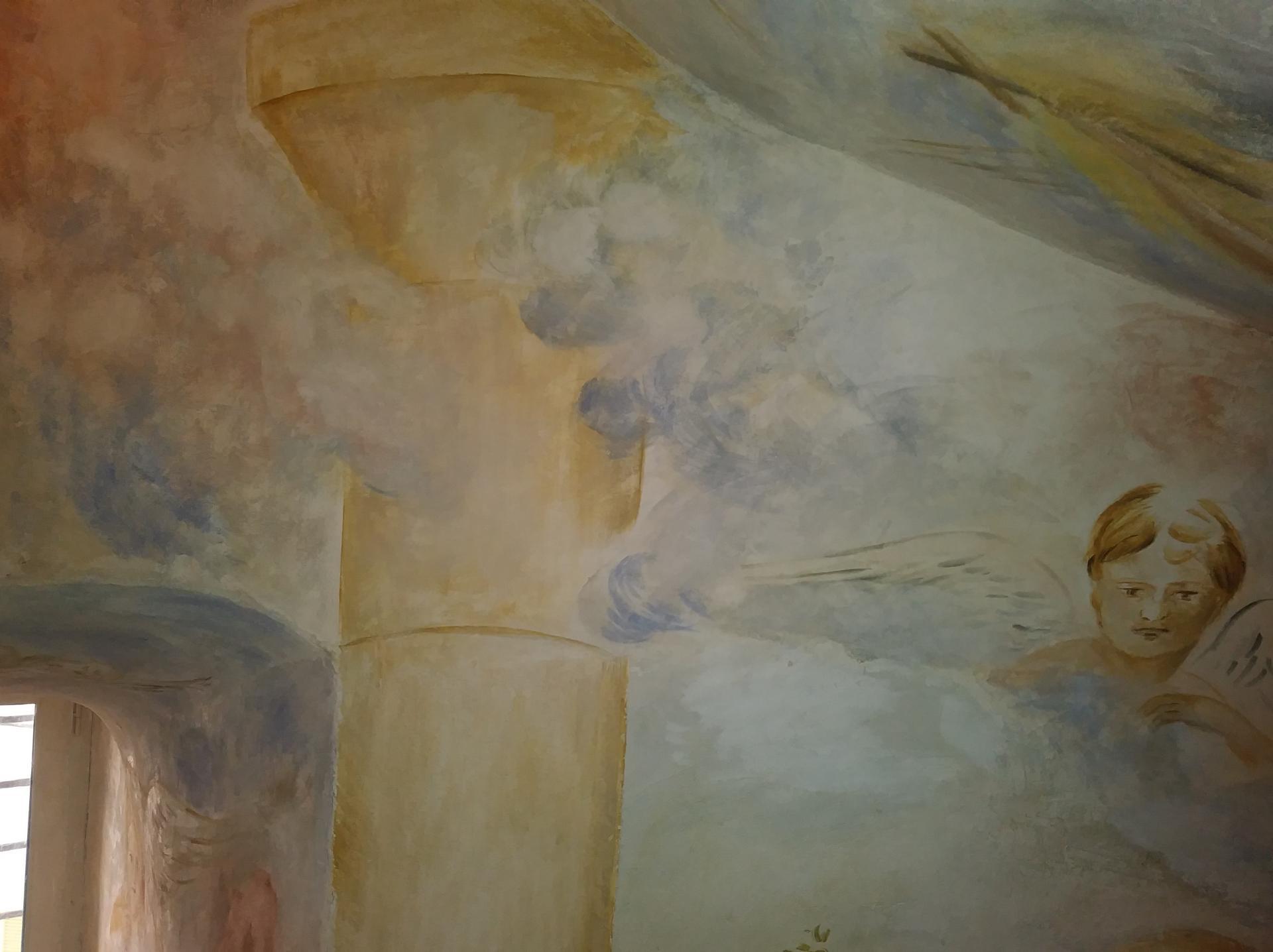 Fresque decoration d une cage d escalier par jean joseph chevalier 7