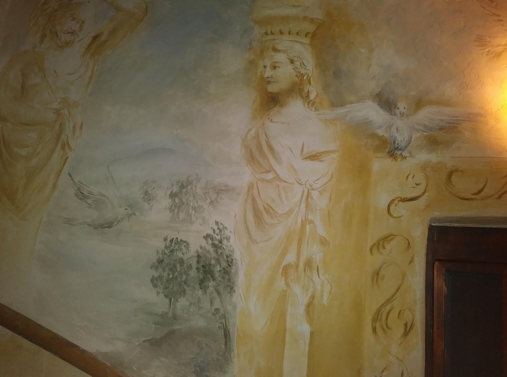 Fresque decoration d une cage d escalier par jean joseph chevalier 8