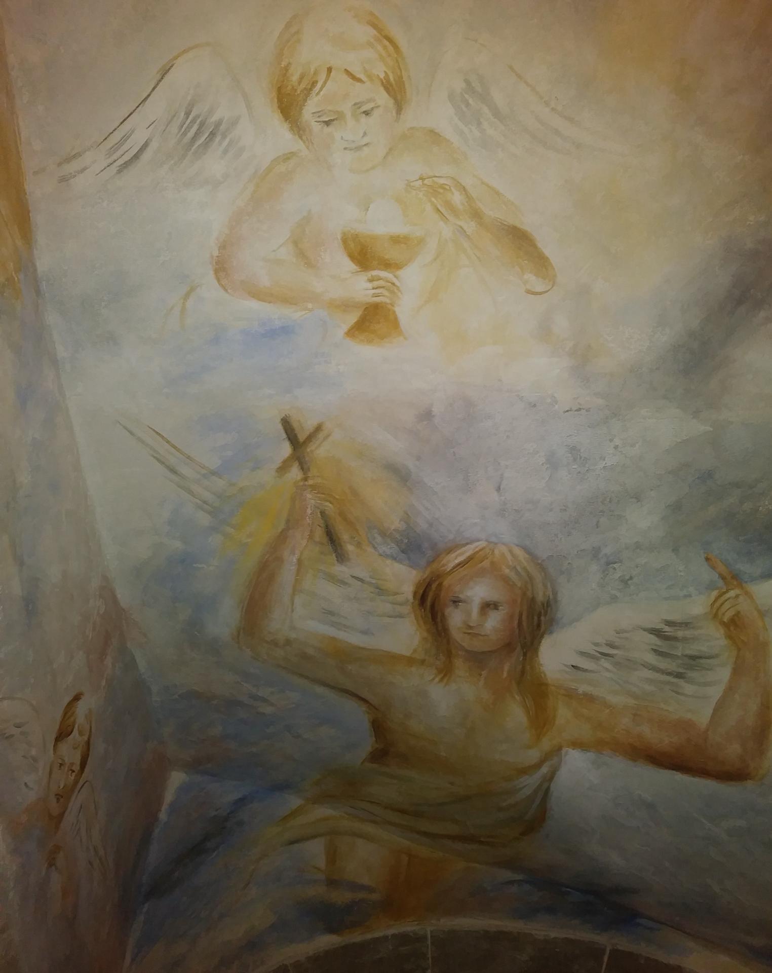 Fresque decoration d une cage d escalier par jean joseph chevalier 9