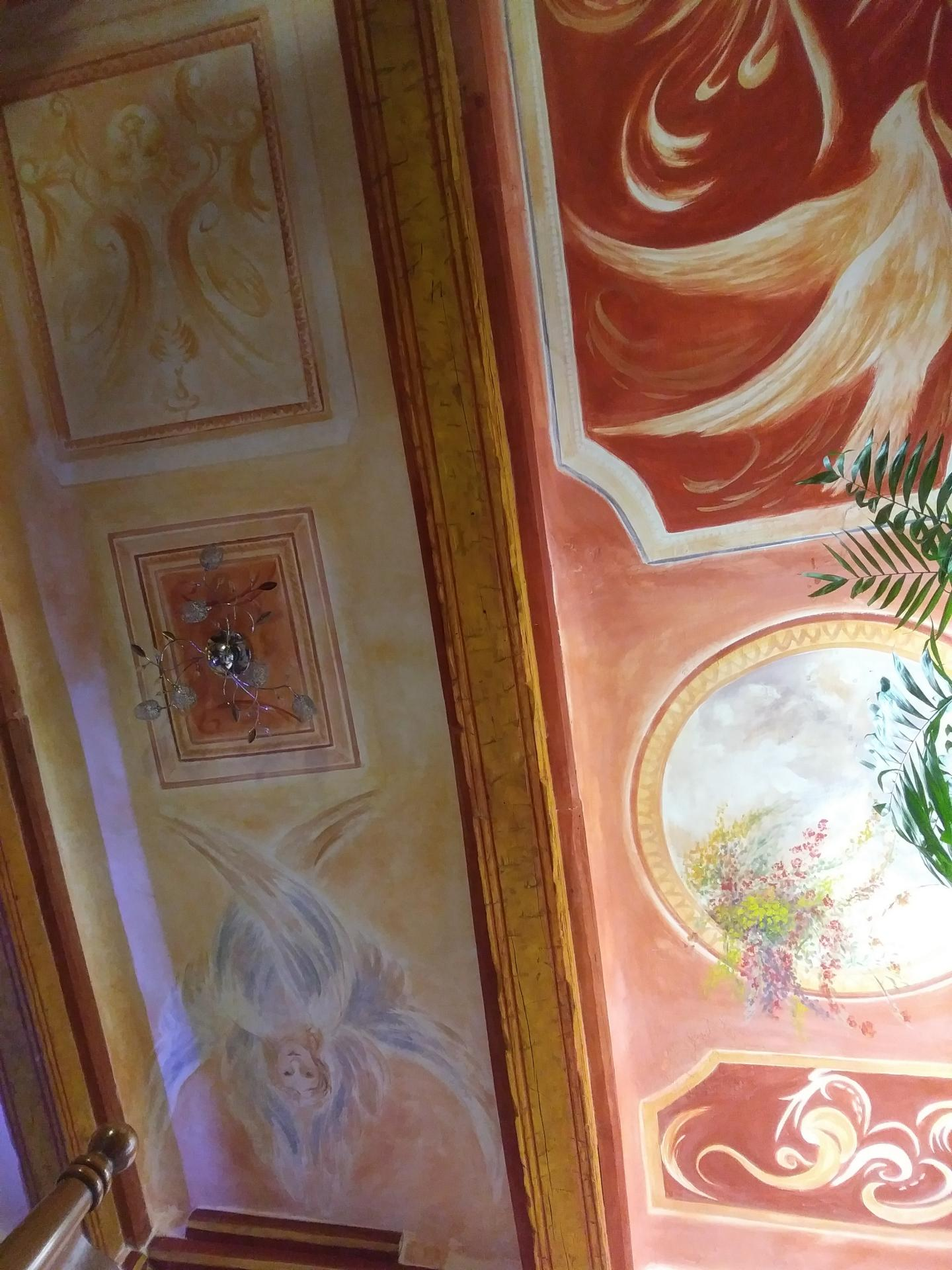 Fresque decorative d un plafond decor 1