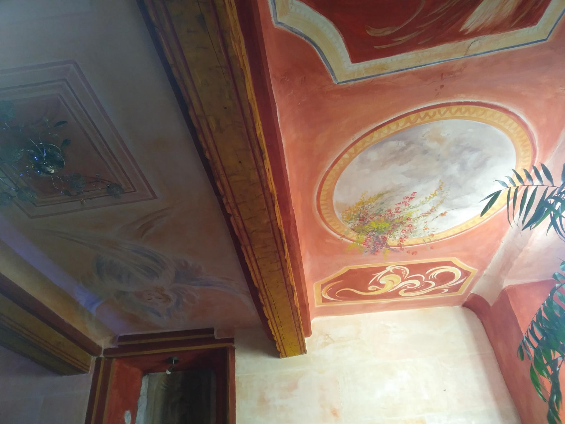 Fresque decorative d un plafond decor 2