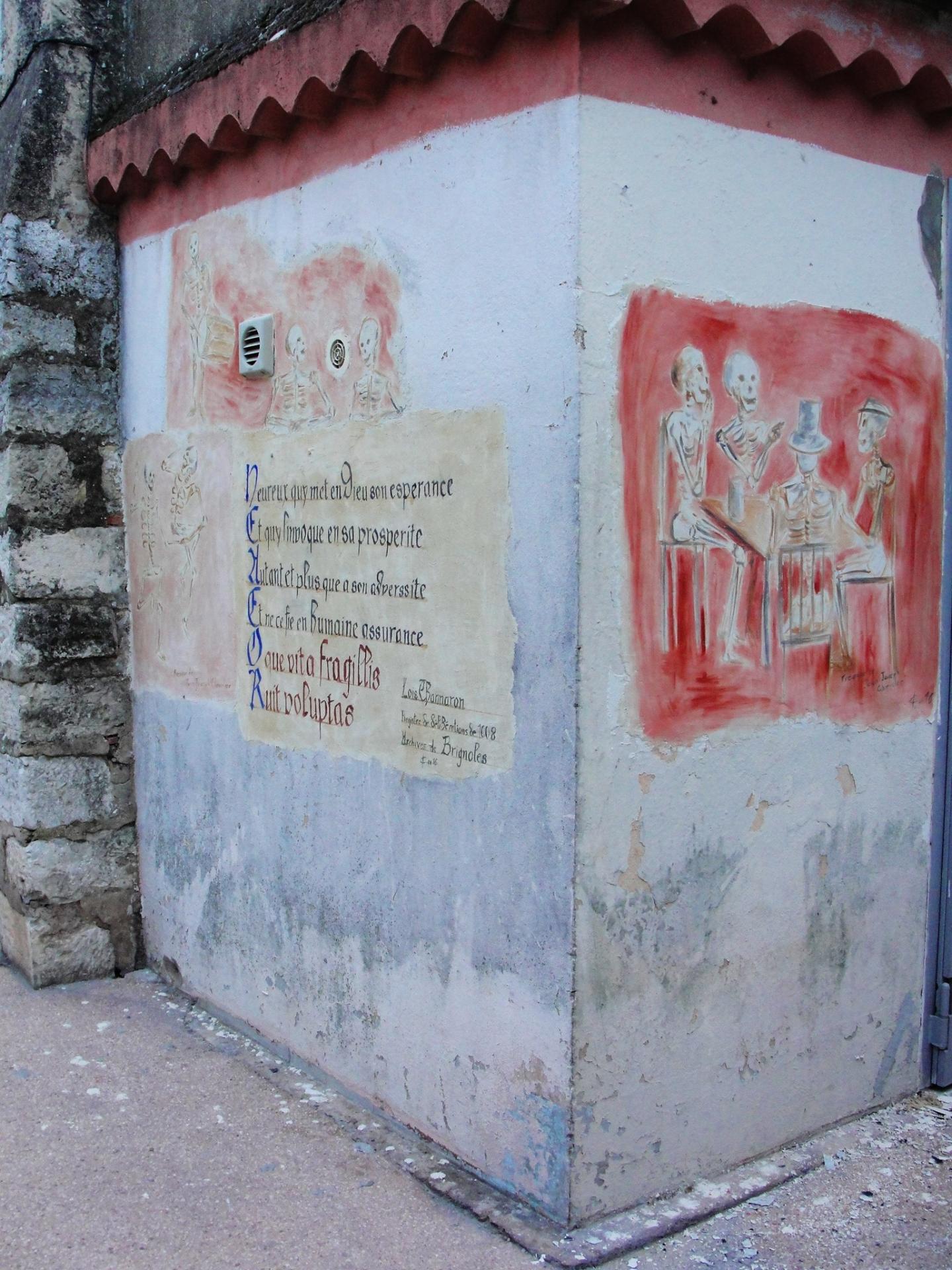 Fresque des vanites par jean joseph chevalier a brignoles 19