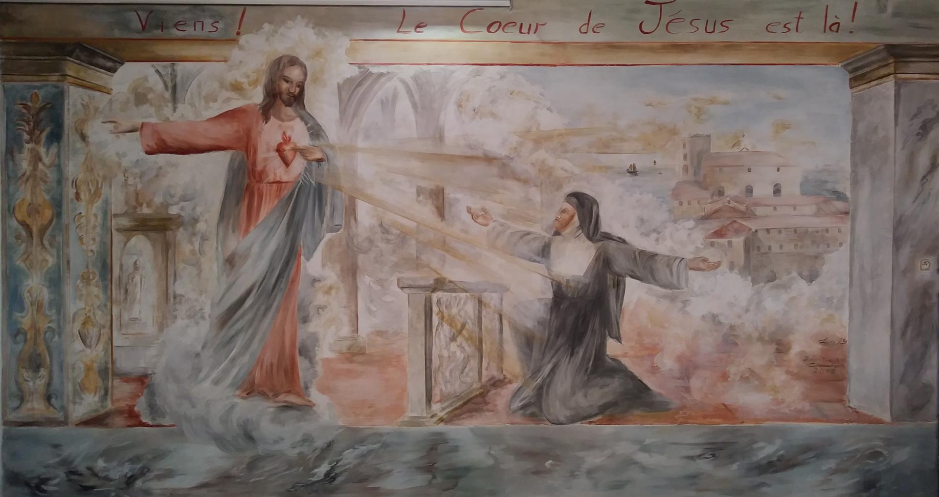 Fresque du Sacre Coeur à Marseille (basilique).