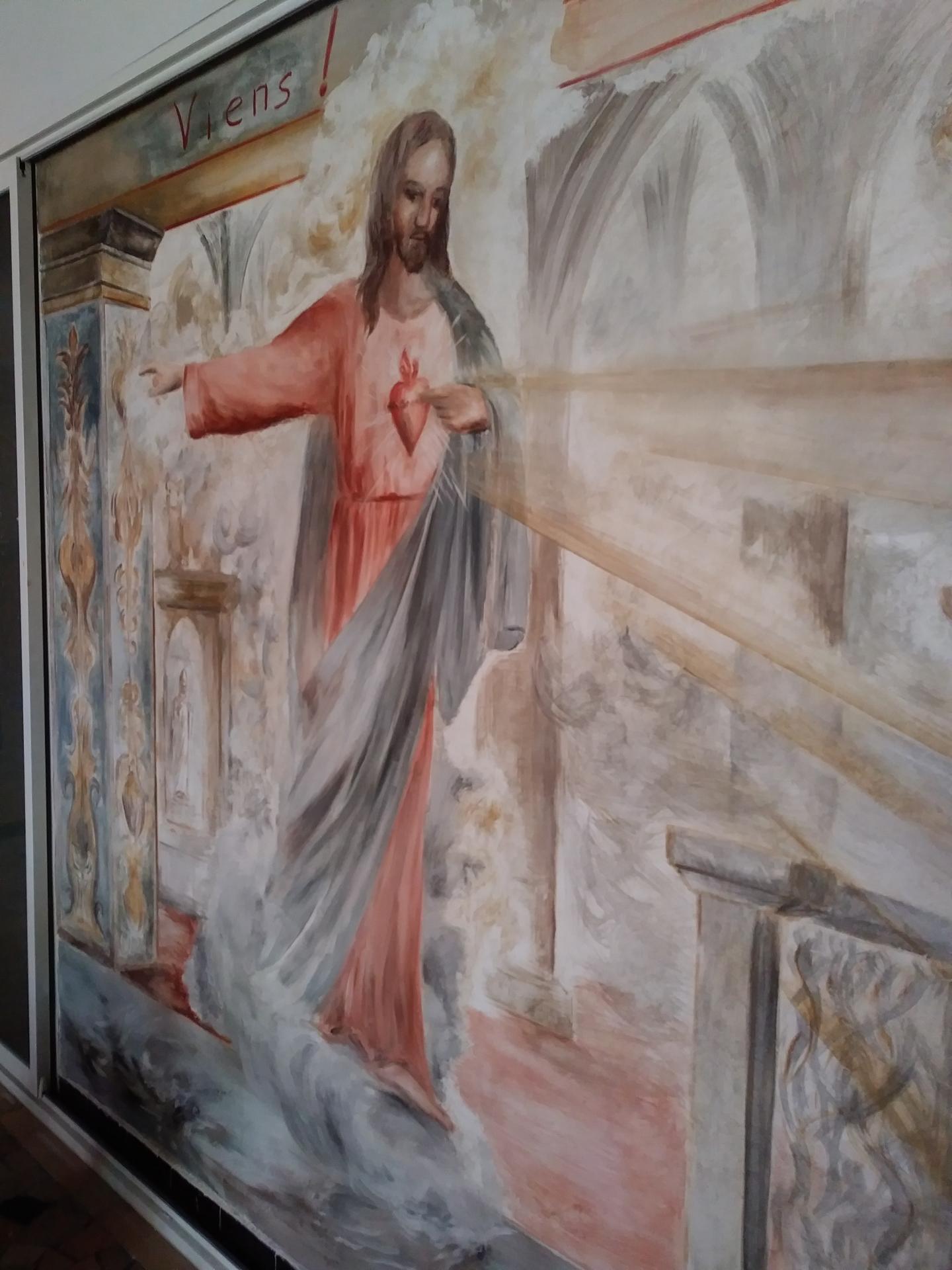Fresque du sacre coeur a marseille 66