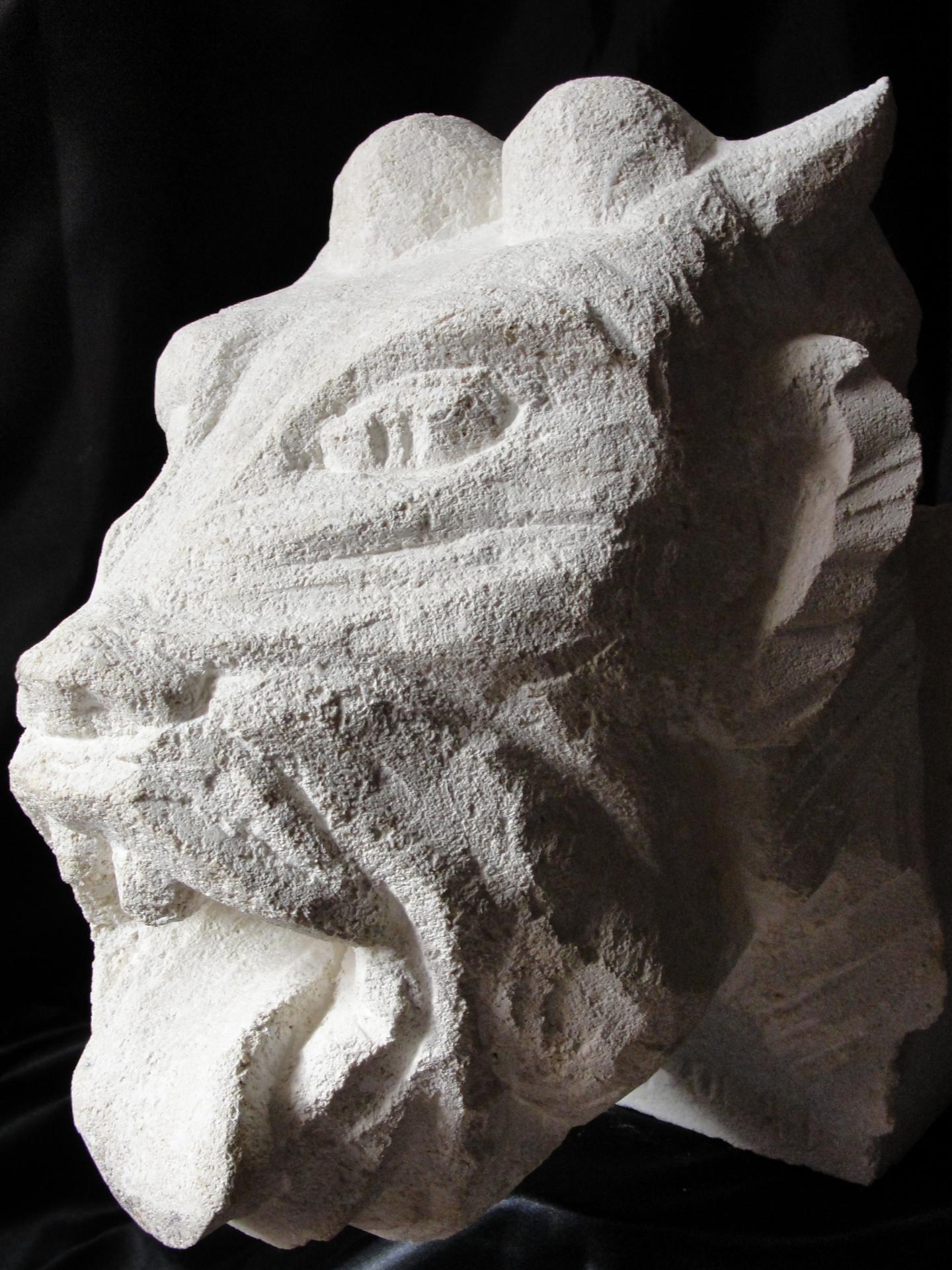 Sculpture sur pierre, gargouille