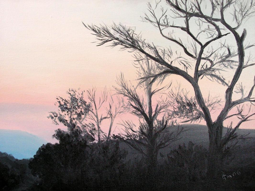 Huile sur toile peinture de paysage de jean joseph chevalier