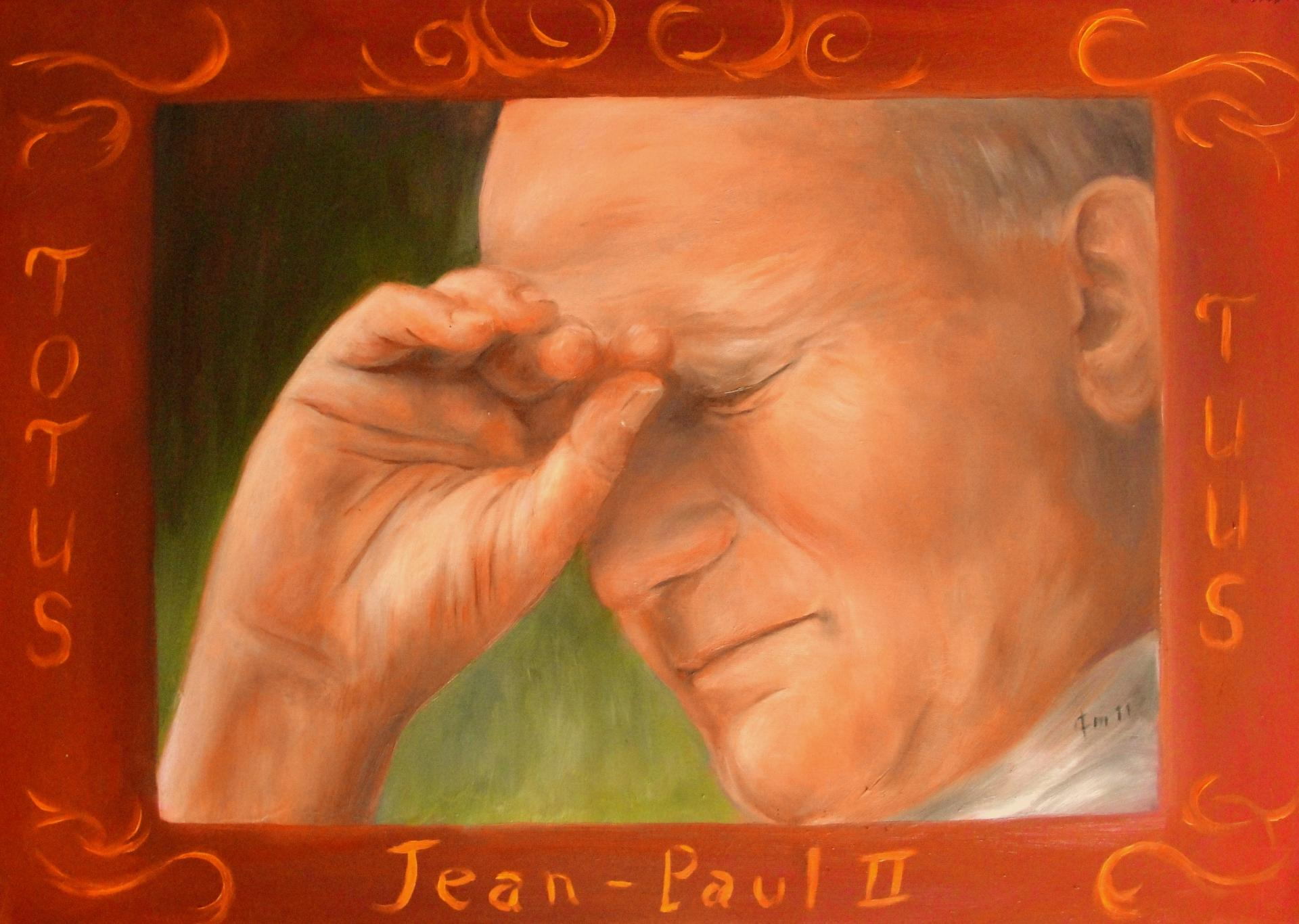 Jean paul ii peinture d art sacre de jean joseph chevalier