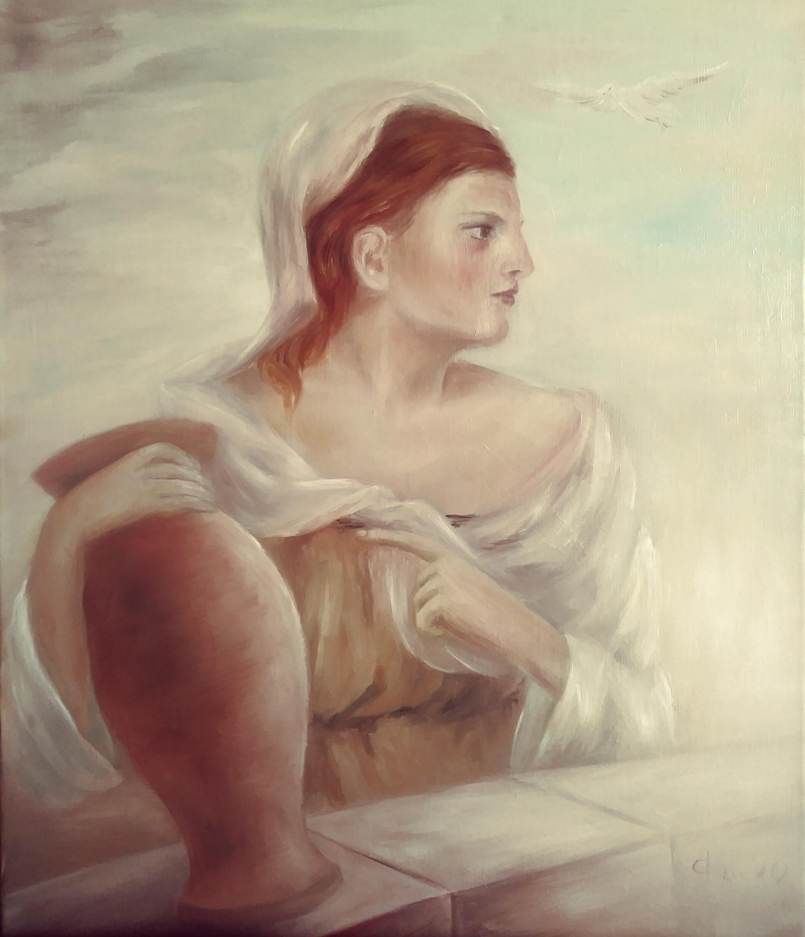 La samaritaine peinture a l huile de jean joseph chevalier