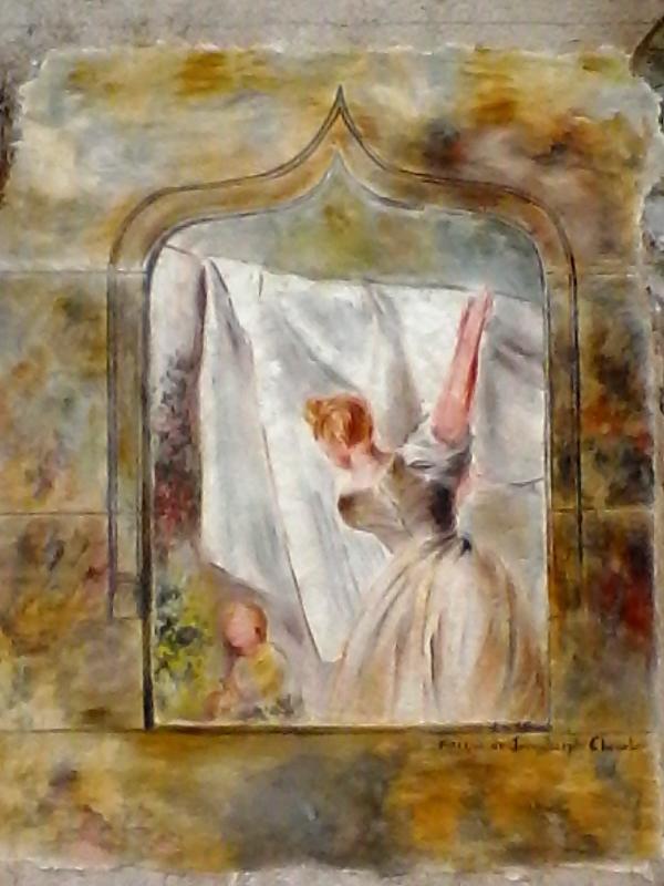 Lavandiere fresque dans les rues de brignoles par jean joseph chevalier