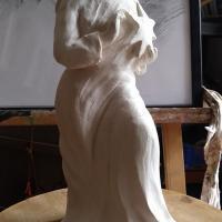 Notre dame de l etoile modelage statuette en terre cuite de jean joseph chevalier 2