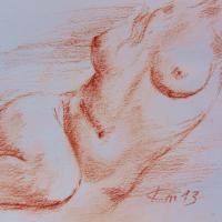 Nu artistique sanguine de jean joseph chevalier 3